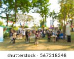 abstract blur people in park... | Shutterstock . vector #567218248