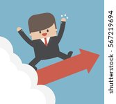 successful business people on...   Shutterstock .eps vector #567219694
