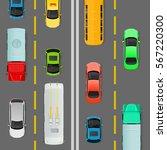 city traffic vector concept.... | Shutterstock .eps vector #567220300