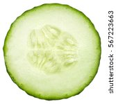 Cucumber slice  isolated on a...