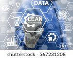 lean manufacturing industry 4.0 ... | Shutterstock . vector #567231208