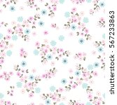 vintage feedsack pattern in... | Shutterstock . vector #567233863