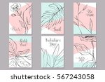 set of valentine's day cards.... | Shutterstock .eps vector #567243058
