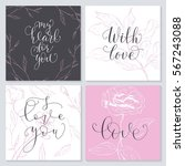 set of valentine's day cards.... | Shutterstock .eps vector #567243088