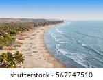 beauty arambol beach aerial... | Shutterstock . vector #567247510