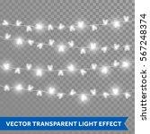 hearts bulb garland lights on... | Shutterstock .eps vector #567248374