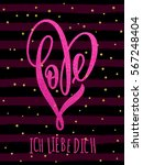 i love you in german  ich liebe ... | Shutterstock .eps vector #567248404