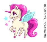 cute vector girlish... | Shutterstock .eps vector #567252340
