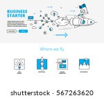 business startup concept with... | Shutterstock .eps vector #567263620