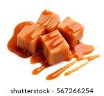 caramel candies and caramel...   Shutterstock . vector #567266254