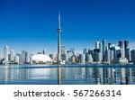 toronto city skyline on clear... | Shutterstock . vector #567266314