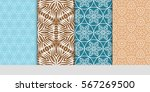 set of modern floral pattern of ... | Shutterstock .eps vector #567269500
