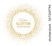 festive background with golden... | Shutterstock .eps vector #567269794