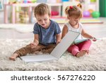 Cute Funny Children Reading...
