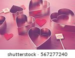 Heart Shaped Cookie Cutters On...