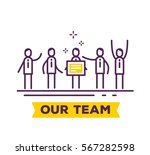 vector business illustration of ... | Shutterstock .eps vector #567282598