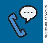 phone call icon flat design