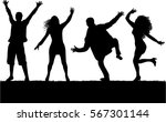 dancing people silhouettes | Shutterstock .eps vector #567301144