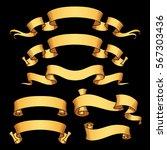 vector ribbon set. banner... | Shutterstock .eps vector #567303436
