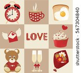 valentine's day icons | Shutterstock .eps vector #567304840