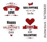valentine's day labels  badges  ... | Shutterstock .eps vector #567306820