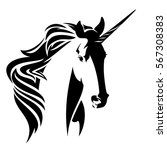 beautiful unicorn horse head ... | Shutterstock . vector #567308383