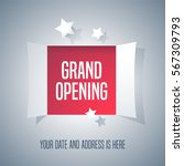 grand opening vector background ... | Shutterstock .eps vector #567309793