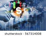 double exposure business...   Shutterstock . vector #567314008