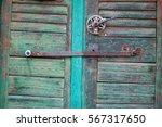 detail of beautiful old door | Shutterstock . vector #567317650