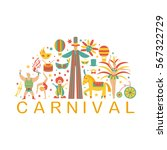 vector collection with carnival ... | Shutterstock .eps vector #567322729