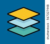 layers icon flat design