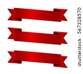 Horizontal Red Banners Vector...