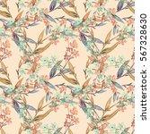 floral seamless pattern. raster ... | Shutterstock . vector #567328630