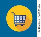 shopping cart icon flat design
