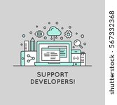 vector icon style illustration... | Shutterstock .eps vector #567332368