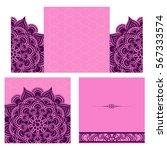 wedding invitation or card .... | Shutterstock .eps vector #567333574