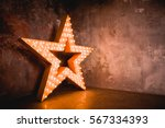 Large Wooden Star With A Large...
