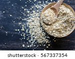 healthy food concept with oats...   Shutterstock . vector #567337354