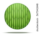 Green Leaf Round Icons Nature...