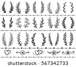 hand drawn set of vintage...   Shutterstock .eps vector #567342733
