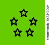 stars icon flat design