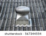 the cooling turbine on the roof. | Shutterstock . vector #567344554