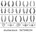 hand drawn set of vintage... | Shutterstock . vector #567348154