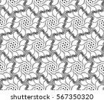 geometric flower. floral... | Shutterstock .eps vector #567350320