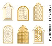set of ornamental islamic... | Shutterstock .eps vector #567353584