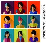 businesswomen in flat design... | Shutterstock .eps vector #567356716
