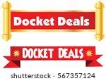 docket deal vector icon...   Shutterstock .eps vector #567357124