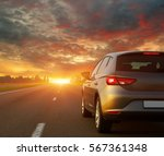 car and light on the road.   Shutterstock . vector #567361348
