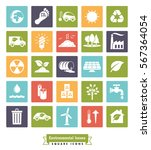 environmental issues icon set.... | Shutterstock .eps vector #567364054