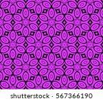 seamless floral geometric... | Shutterstock .eps vector #567366190